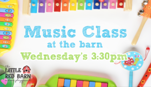 Music class Wednesday at the Barn!